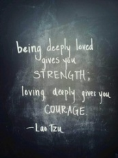 I'm all for love, strength and courage, but could live without the vulnerability love brings. Photo  Credit: http://pinterest.com/yazoah/